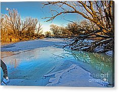 Poudre Ice Acrylic Print by Baywest Imaging