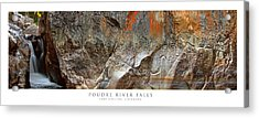 Poudre River Falls Fort Collins Acrylic Print by Posters of Colorado