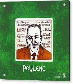 Poulenc Acrylic Print by Paul Helm