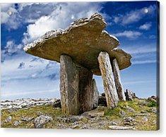 Poulnabrone Dolmen - Clare - Ireland Acrylic Print by Jane McIlroy