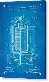 Poulsen Magnetic Tape Recorder Patent Art 1900 Blueprint Acrylic Print by Ian Monk