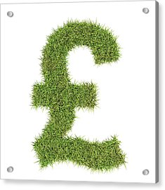 Pound Sterling Symbol Acrylic Print