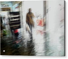 Acrylic Print featuring the photograph Pounding The Pavement by Alex Lapidus