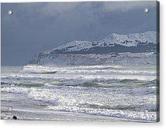 Pounding Waves Acrylic Print by Tim Grams