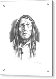 Poundmaker Acrylic Print by Lee Updike