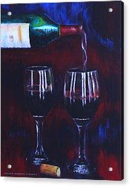 Pour Me Some Wine Acrylic Print