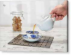 Pouring A Cup Of Tea Acrylic Print