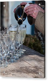 Pouring Champagne Acrylic Print by Frank Gaertner