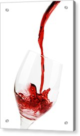 Pouring Red Wine Acrylic Print by Chevy Fleet