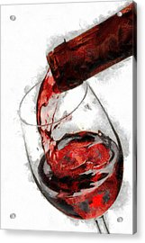 Pouring Red Wine Acrylic Print