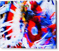 Pow Wow Abstract Acrylic Print by Susan Parish