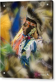 Pow Wow Traditional Ways Of  Learning Acrylic Print by Bob Christopher