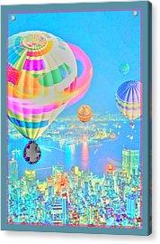 Powder Blue City Acrylic Print by Tracie Howard