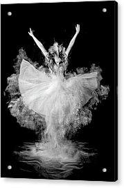 Powder Burst Acrylic Print by Pauline Pentony Ba