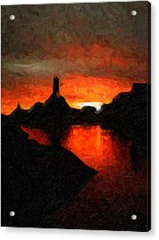 Powell Sunset Acrylic Print