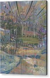 Power Corridor Acrylic Print by Donald Maier