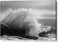 Power In The Wave Bw By Denise Dube Acrylic Print