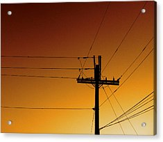 Power Line Sunset Acrylic Print by Don Spenner