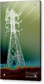 Power Lines Acrylic Print by Gregory Dyer