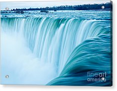 Power Of Niagara Falls Acrylic Print by Peta Thames