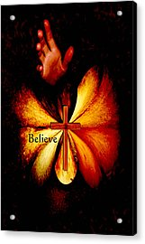 Power Of Prayer Believe Acrylic Print