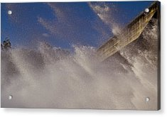 Power Of Water Acrylic Print by Debbie Cundy