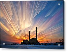 Power Plant Acrylic Print by Matt Molloy