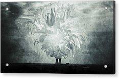 Power Plant Palms Acrylic Print by Trish Tritz