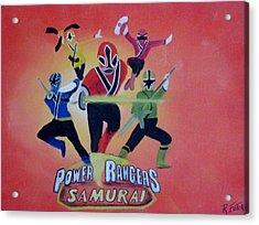 Power Rangers Samurai Acrylic Print by Rich Fotia