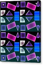 Power Shapes Acrylic Print by Tina M Wenger