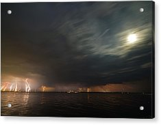 Power Shower Acrylic Print by Matt Molloy