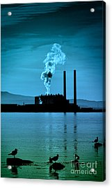 Power Station Silhouette Acrylic Print by Craig B