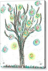 Acrylic Print featuring the drawing Power Tree by Jill Lenzmeier