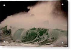 Power Wave Acrylic Print by Barbara Walsh