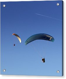 Acrylic Print featuring the photograph Powered Parachute by John Swartz