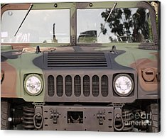 Powerful Army Off Road Vehicle Acrylic Print