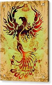 Powerful Phoenix Acrylic Print