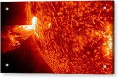 Powerful Plasma Jet Acrylic Print by Sunny Day