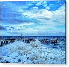 Powerful Sea  Acrylic Print by Rick Todaro