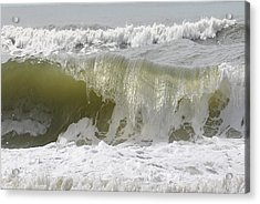 Powerful Wave Acrylic Print by Michele Kaiser