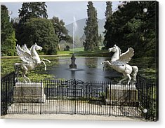 Powerscourt House Terrace And Fountain Acrylic Print by Christiane Schulze Art And Photography