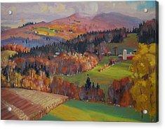 Pownel Vermont Acrylic Print by Len Stomski