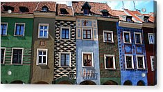 Poznan Town Houses Acrylic Print by Jacqueline M Lewis