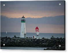 pr 200 - The Sailboats Acrylic Print by Chris Berry