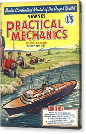 Practical Mechanics 1950s Uk Diy Boats Acrylic Print by The Advertising Archives