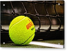 Practice - Tennis Ball By William Patrick And Sharon Cummings Acrylic Print by Sharon Cummings