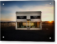 Prada Marfa Acrylic Print by Mountain Dreams