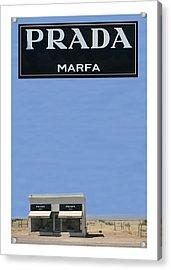 Prada Marfa Texas Acrylic Print by Jack Pumphrey