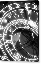 Prague Astronomical Clock Acrylic Print by John Rizzuto