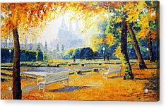 Prague Autumn In The Kralovska Zahrada Acrylic Print by Yuriy Shevchuk